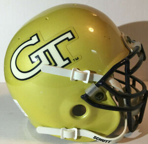 GEORGIA-TECH-YELLOW-JACKETS-NCAA-COLLEGE-FOOTBALL-SCHUTT-AIR-GT-GOLD-MINI-HELMET