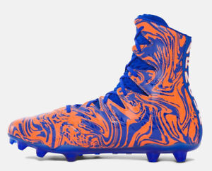 Under Armour UA Highlight Lux MC Sz 15 Football Cleats Orange//Blue 1297953 401