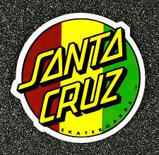 Santa Cruz RASTA Dot Skateboard Sticker 3in si