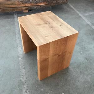 Designer Hocker Eiche Wild Massiv Holz Sitzhocker Neu Stuhl Sitzbank
