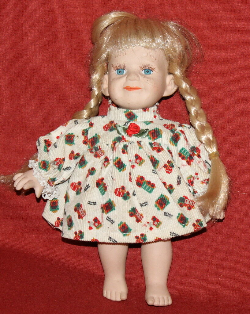 Vintage European Handcrafted Bisque Cloth Dressed Girl Doll