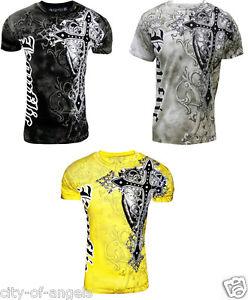 Konflic-Giant-Cross-Biker-MMA-UFC-Roar-Men-039-s-T-Shirt