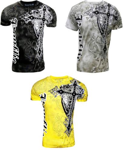 Konflic Giant Cross Biker MMA UFC Roar Men/'s T Shirt