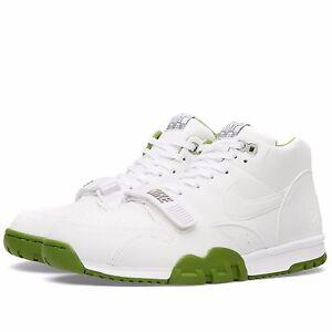 14dab3116d224e Nike x Fragment Air Trainer 1 Mid SP  Wimbledon  White Chlorophyll ...