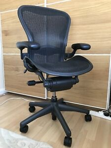 Image Is Loading Herman Miller Aeron Chair Size B Excellent Condition