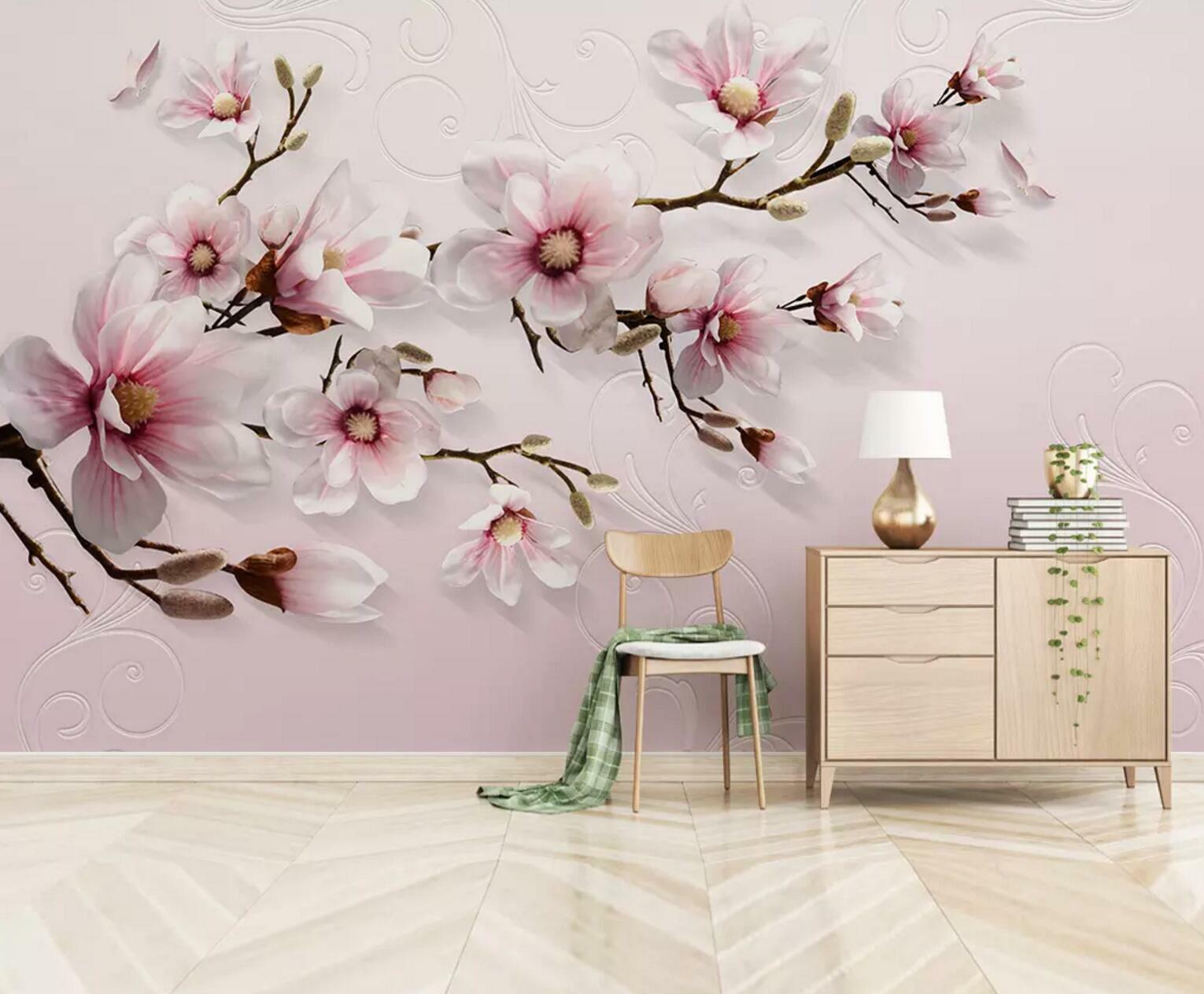 3D Blooming Lily 8 Wall Paper Exclusive MXY Wallpaper Mural Decal Indoor Wall AJ