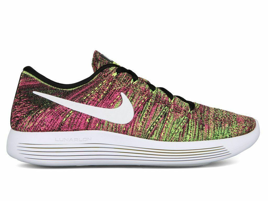 Nike LunarEpic Low Flyknit OC Running shoes Multi-color Whit 844862-999, US Sz 8