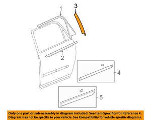 Cadillac GM OEM 05-11 STS Exterior-Rear-Applique Window Trim Right 15937024