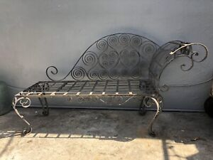 Remarkable Details About Rare Antique Wrought Iron Ornate Garden Bench Los Angeles Ca Pdpeps Interior Chair Design Pdpepsorg