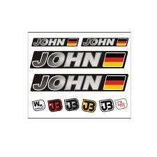 JOHN Auto Fahrrad Motorrad Kart Helm Fahrername Aufkleber Sticker Flagge