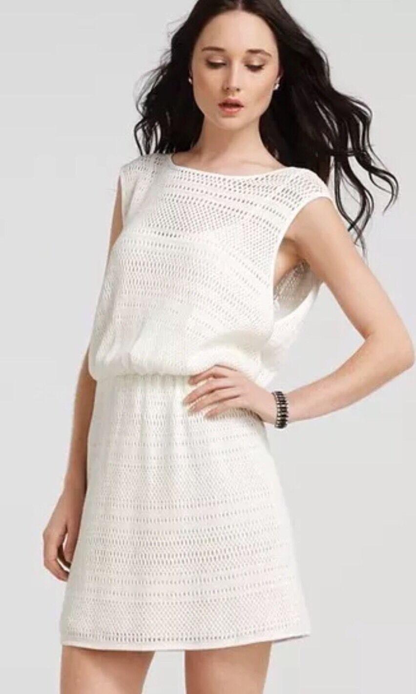 338 Para Mujer Crochet Marfil Vestido de punto abierto TIBI Cazadora gota de cintura Mod Crema Talla L  bienvenido a orden