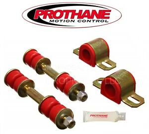 Prothane-18-1101-Front-Sway-Bar-Bushing-and-End-Link-Bushing-Set-18mm-Red