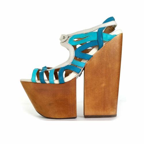 """JEFFREY CAMPBELL 8 Sandals 6"""" Platform Sandals Tur"""