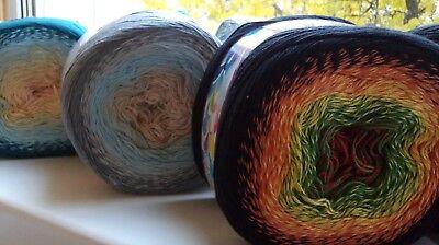 Hilo Mandala 250g//1250m//4ply 490 //// 585-210-070 gradiente Pastel hilado de algodón