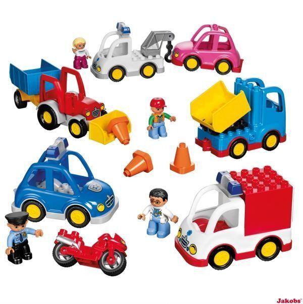 Lego Duplo 2 Multi Vehicles 2 5 J Ambulance Car Tractor Truck 45006