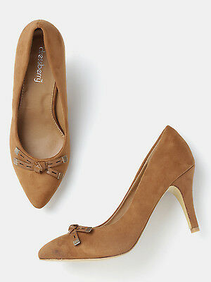DressBerry Women Brown Solid Pumps   (FLAT 50% OFF) -DYY