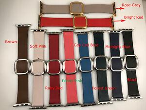 Original Genuine Apple Watch Series 6 5 4 3 Modern Buckle leather band 38MM 40MM