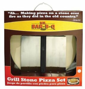Mr-Bar-B-Q-06187X-15-Grill-Stone-Pizza-Set