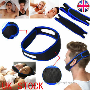 UK Anti Snoring Chin Strap Belt Stop Snore Device Apnea Jaw Support Solution 6000002049155
