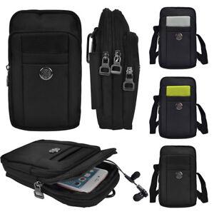 3a189e08e1 Men s Shoulder Bag Belt Clip Waist Bag Phone Pouch For Apple iPhone ...