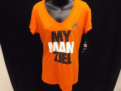 Neuf Cleveland Marrons Femmes TAILLE L Orange Nike Chemise Msrp