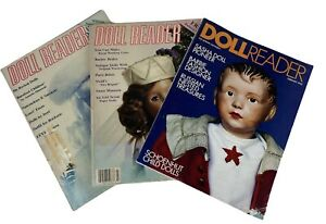 Lot of 3 Doll Reader Magazines - July 1987, Dec 1987/Jan 1988, and Feb 1993