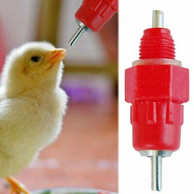 10pcs Chicken Duck Hen Screw In Poultry Water Nipple Drinker Feeder CA