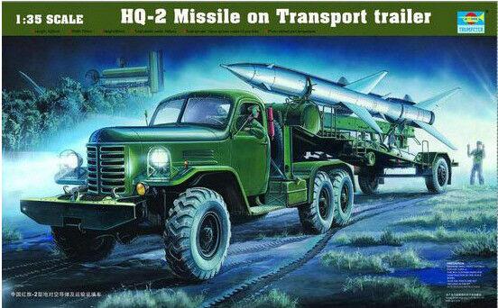 Trumpeter 1 35 HQ-2 Missile on Transport Trailer