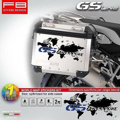 Adesivi Stickers Bmw R1250 GS R1200 Bmw Motorrad HP World Map Valigie Suitcase