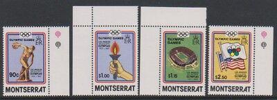 Gelernt Montserrat Set Wmk Inv Sg 595/8 Klar Und Unverwechselbar Mnh 1984,olympische Spiele,los Angeles