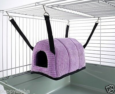 Cuddle Up Rat Chinchilla Igloo Hanging Bed House Toy Ferret Snuggle Up Hammock