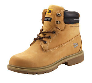313ebbf8ef5 Details about JCB Protect Safety Boots Honey With Steel Toe Caps Midsole