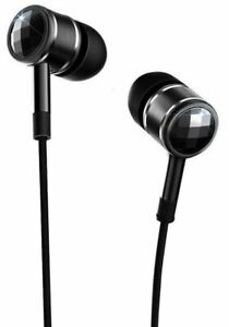 1More EO301 Black Swarovski Crystal Piston In-Ear Headphones with Microphone