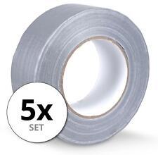 5 Rollen zuverlässiges Gewebeband 48mm breit, 50m lang für Hobby & Beruf, grau