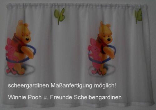 Winnie Pooh Freunde Gardine.Scheibengardine ich fertige nach Maß