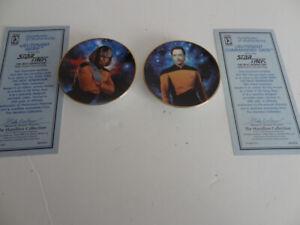 Star-Trek-Next-Generation-2-Mini-plates-LIEUTENANT-WORF-amp-LT-COMMANDER-DATA