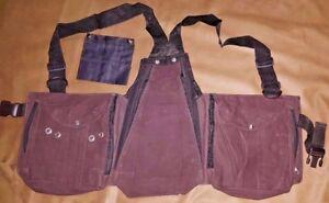 Falconry-Leather-Vest-Hawking-Hunting-Bird-Handling-Brown-Nubuck-Leather