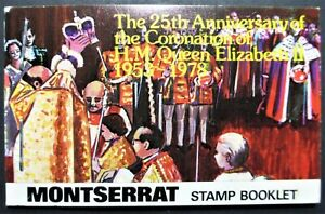 MONTSERRAT-BOOKLET-STAMPS-1978-25th-ANNIVERSARY-OF-THE-QUEENS-CORONATION-MNH