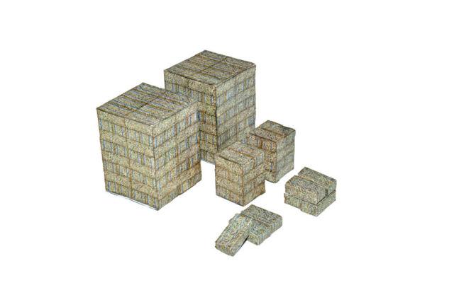 STRAW BALES PRE-CUT CARD & PAPER KIT FOR OO GAUGE MODEL RAILWAY 1:76 - AX015-OO