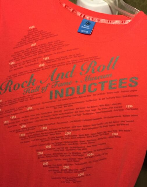 Pink Rock & Roll Hall Of Fame Museum Inductees T Shirt  Size L
