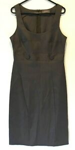 Jacqui-E-Womens-Dark-Grey-Sleeveless-Dress-with-Back-Zipper-Size-10