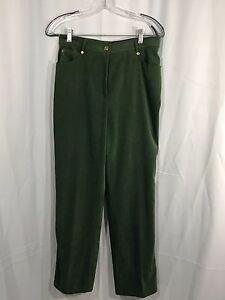 St-John-Sport-Women-039-s-Green-Velvet-Pants-Size-8-Inseam-29
