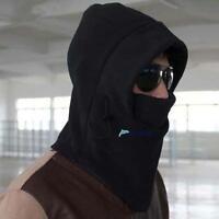 New 2017 Thermal Fleece 6 in 1 Balaclava Hood Police Swat Ski Mask Cool Black TL