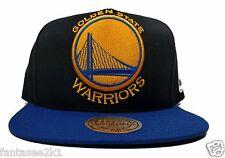746427c5919 Golden State Warriors Mitchell   Ness Black XL Logo 2 Tone Snapback Hat NBA