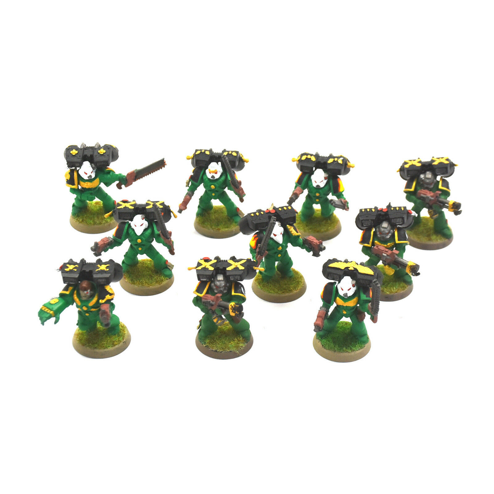 SALAMANDERS 10 tactical assault Marine Squad Warhammer 40K Space marines