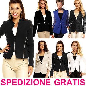 Giacca-Elegante-da-Donna-Blazer-per-Cerimonia-Giubbino-Business-alla-Moda-Nuovo