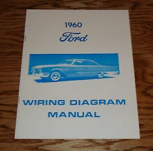 1960 Ford Car Wiring Diagram Manual 60 | eBay