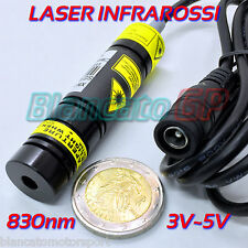 MODULO LASER 830nm 250mW INFRAROSSI 5V DC diodo infrared laser module focusable