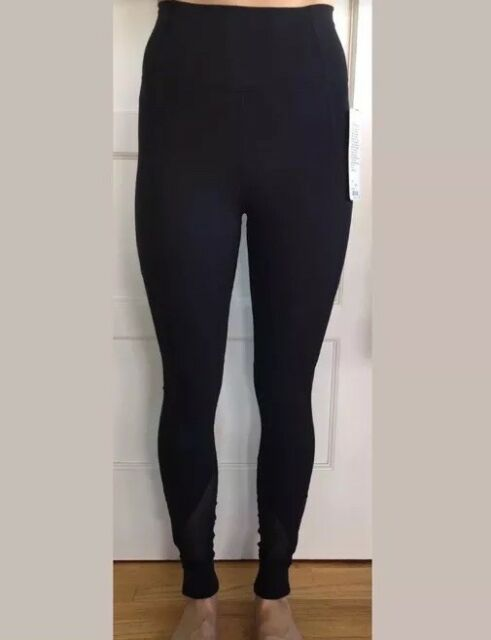 193ce082997b3 Lululemon Size 4 Hot Like Agni Pant BLK Black Mesh High Rise Tight Luxtreme  Run