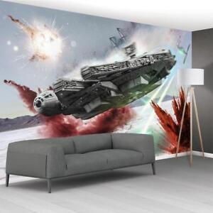 Star Wars Battle Ships papier peint tissé auto-adhésif Mur Art Mural Décalque M242